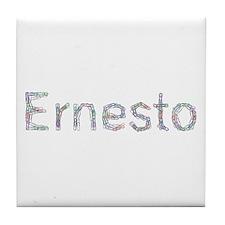 Ernesto Paper Clips Tile Coaster