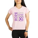 GIST Cancer Hope Courage Performance Dry T-Shirt