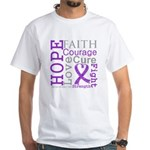 GIST Cancer Hope Courage White T-Shirt