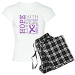 GIST Cancer Hope Courage Women's Light Pajamas