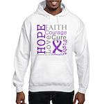 GIST Cancer Hope Courage Hooded Sweatshirt