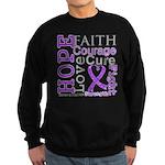 GIST Cancer Hope Courage Sweatshirt (dark)