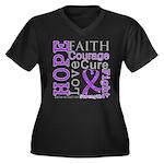 GIST Cancer Hope Courage Women's Plus Size V-Neck