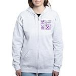 GIST Cancer Hope Courage Women's Zip Hoodie