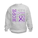 GIST Cancer Hope Courage Kids Sweatshirt