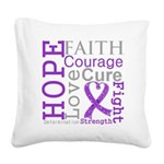 GIST Cancer Hope Courage Square Canvas Pillow