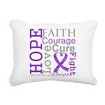 GIST Cancer Hope Courage Rectangular Canvas Pillow