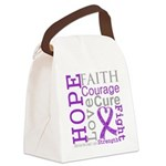GIST Cancer Hope Courage Canvas Lunch Bag