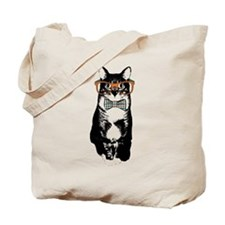 Hipster Cat Tote Bag