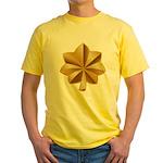 US Army Major Yellow T-Shirt
