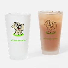 Cute Peekapoos Drinking Glass