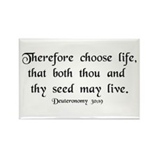 """""""Therefore, Choose..."""" Rectangle Magnet (100 pack)"""