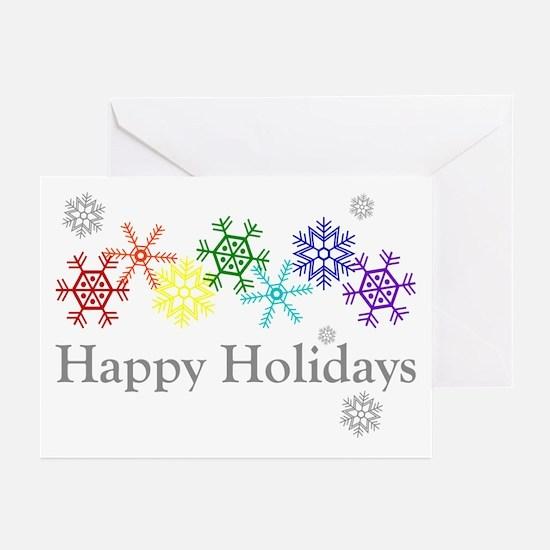Rainbow Snowflakes Greeting Cards (Pk of 20)