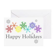 Rainbow Snowflakes Greeting Cards (Pk of 10)