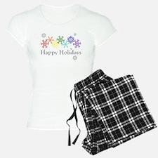 Rainbow Snowflakes Pajamas