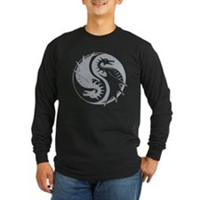 Yin Yang Dragon Long Sleeve T-Shirt