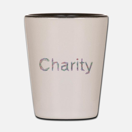 Charity Paper Clips Shot Glass