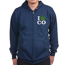 I Cannabis Colorado Zipped Hoodie