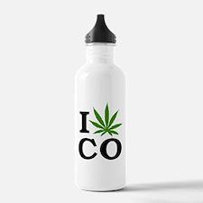 I Cannabis Colorado Water Bottle
