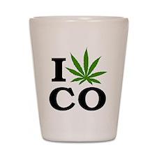 I Cannabis Colorado Shot Glass