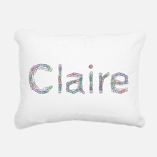 Claire Paper Clips Rectangular Canvas Pillow