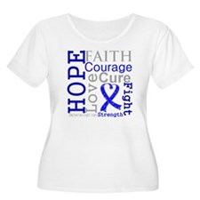 Colon Cancer Hope Courage T-Shirt