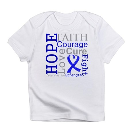 Colon Cancer Hope Courage Infant T-Shirt