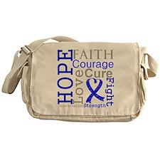 Colon Cancer Hope Courage Messenger Bag