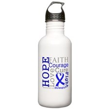 Colon Cancer Hope Courage Water Bottle