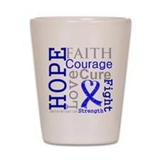 Colon Cancer Hope Courage Shot Glass