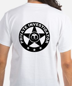 Private Investigator Logo on Shirt