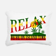 relax weed.png Rectangular Canvas Pillow