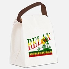 relax weed.png Canvas Lunch Bag