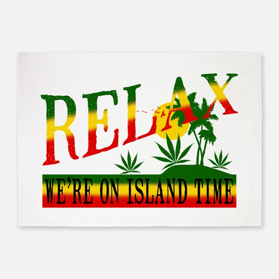 relax weed.png 5'x7'Area Rug