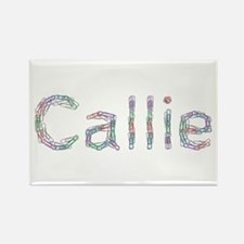 Callie Paper Clips Rectangle Magnet