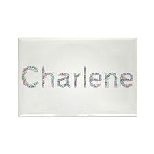 Charlene Paper Clips Rectangle Magnet