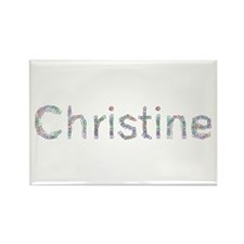 Christine Paper Clips Rectangle Magnet