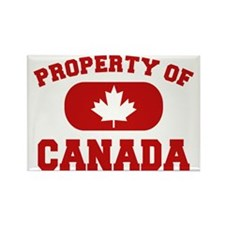 Property of Canada Maple Leaf Rectangle Magnet