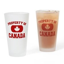Property of Canada Maple Leaf Drinking Glass
