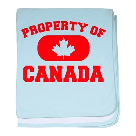 Property of Canada Maple Leaf baby blanket