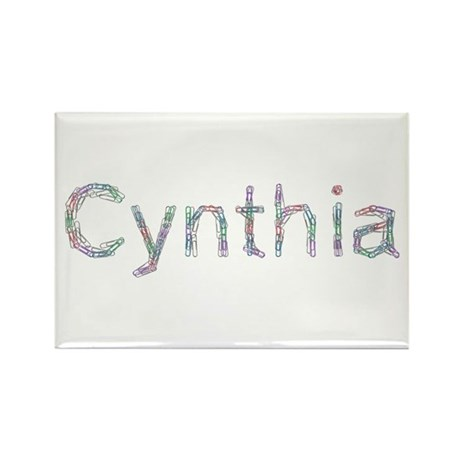Cynthia Paper Clips Rectangle Magnet