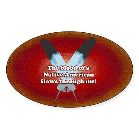 Native Blood Rectangle Sticker