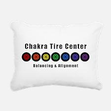 Chakra Tire Center Rectangular Canvas Pillow