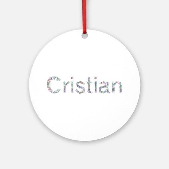 Cristian Paper Clips Round Ornament