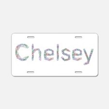 Chelsey Paper Clips Aluminum License Plate