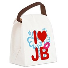 I love jb Canvas Lunch Bag