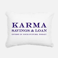 Karma Savings and Loan Rectangular Canvas Pillow
