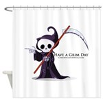 Have a Grim Day Shower Curtain