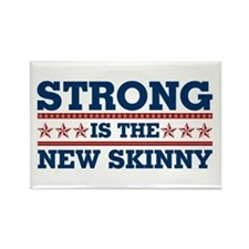 Strong is the New Skinny - Patriotic Rectangle Mag