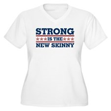 Strong is the New Skinny - Patriotic T-Shirt